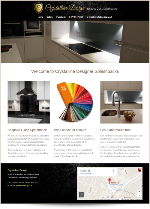 Web Design Example Crystalline Design