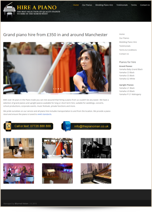 Web Design Example Hire A Piano