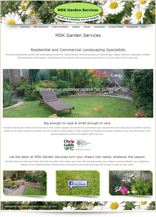 Web Design Example MDK Garden Services