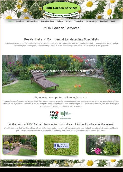 Web Design Example MDK Garden Services
