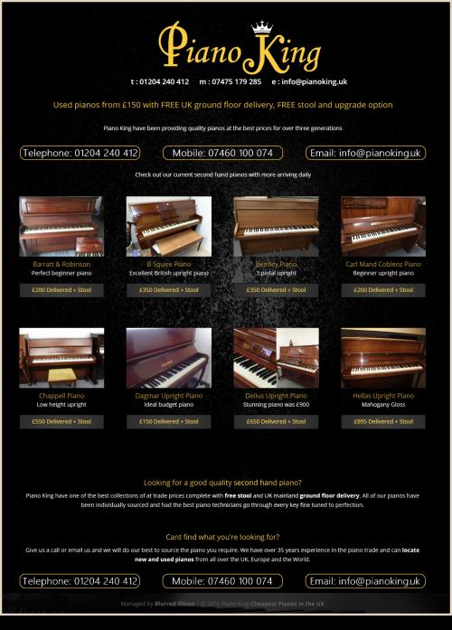 Web Design Example Piano King