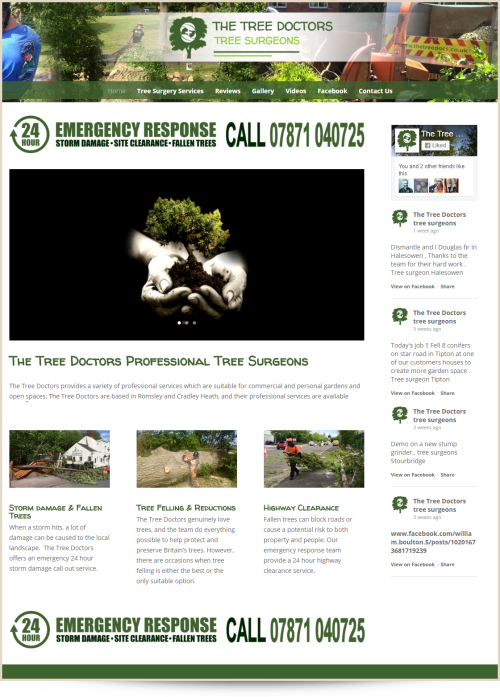 Web Design Example The Tree Doctors